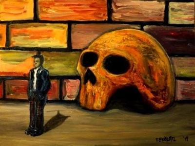Tekolotl - ArtWork - Poeta viviendo en un cráneo