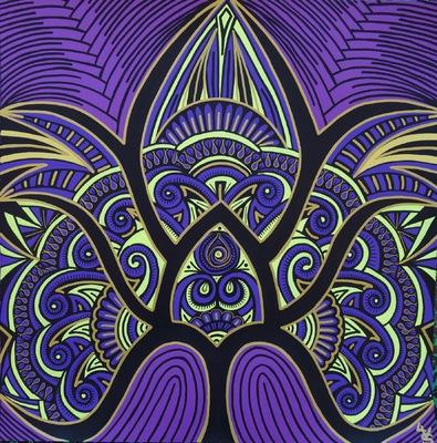LyubaS Art - Violette 50x50 cm