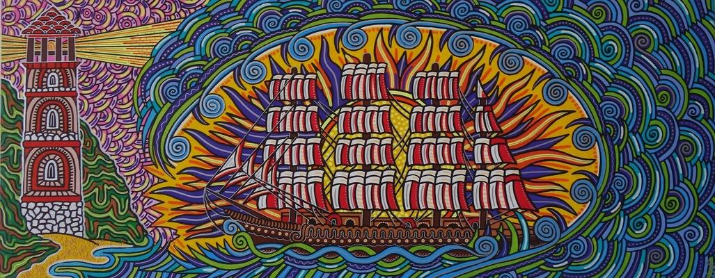 LyubaS Art - La Vague 100 x 40 cm