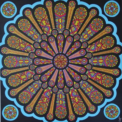 LyubaS Art - The Big Bang 80 x 80 cm