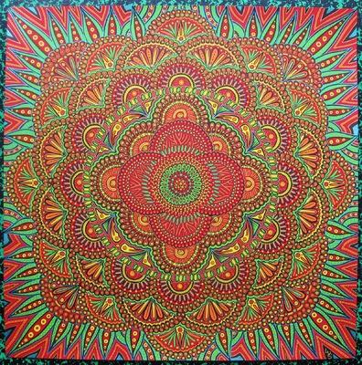 LyubaS Art - Kitsch Mandala 50x50 cm