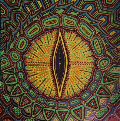 LyubaS Art - Snakes Eye 24x24 cm