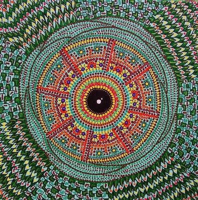 LyubaS Art - Chameleons Eye 24x24 cm