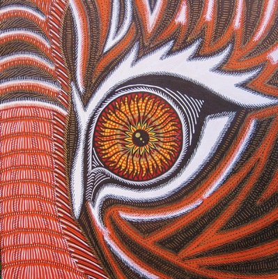 LyubaS Art - Tigers Eye 24x24 cm