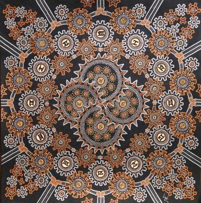 LyubaS Art - Tik Tak 50 x 50 cm