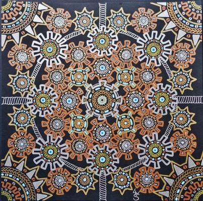 LyubaS Art - Zik Zak 30 x 30 cm