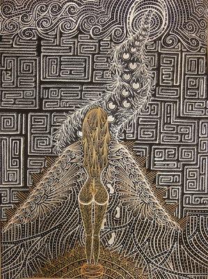 LyubaS Art - Meet an Angel 24x32 cm