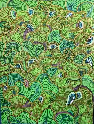LyubaS Art - Hidden Faces 30x40 cm