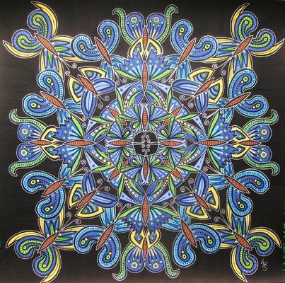 LyubaS Art - 32 Paipillons 50 x 50 cm