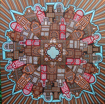 LyubaS Art - Amsterdam 50x50 cm