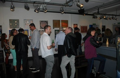 LyubaS Art - 27/09 - 07/11/2014 Exposition au « Bar Kunst Sound, Industrie 9 » Zürich, Swiss ////// Photos Vernissage