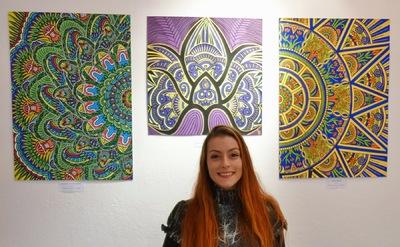 LyubaS Art - 07 - 19/12/15 Exposition Le Mystère des mandalas à la Galerie BeauNArt Narbonne, France //////Photos Expo