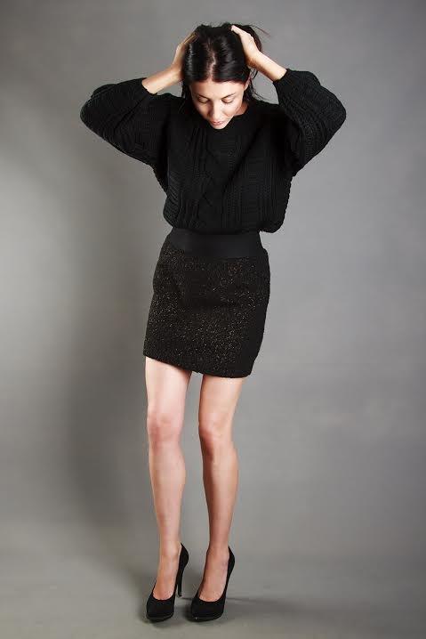 I ΔM WOMAN - Glitter skirt