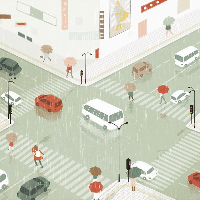 Leilei Huang - Rainy Roads