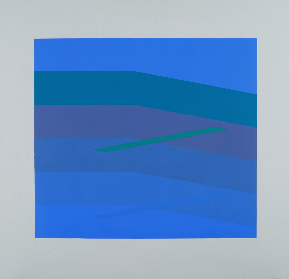 MARTIN V SMITH - Blue space 810x760 & Limited Edition Signed A2 Geclee Prints