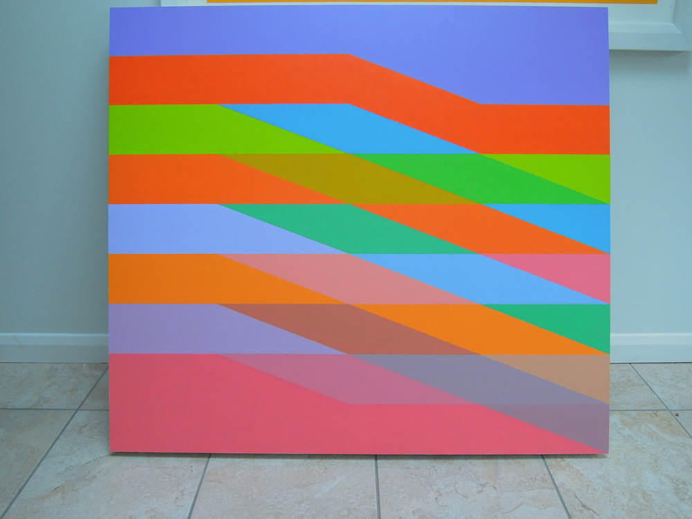 MARTIN V SMITH - Wrapped: Red Space Acrylic 1200x1175mm Site specific Commissions welcome.