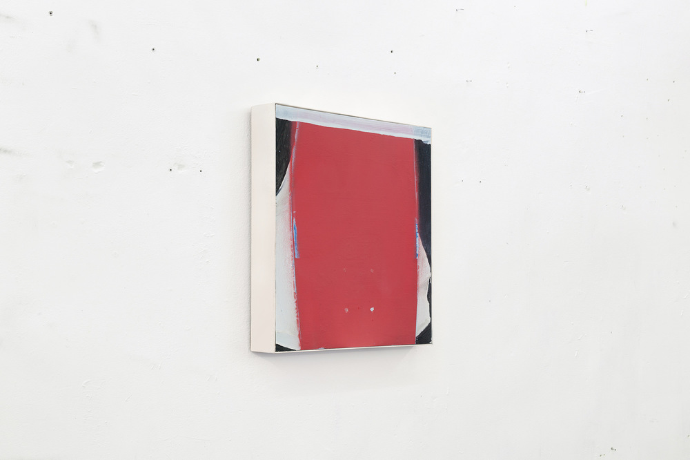 Alex Marco - Untitled, 2014. Oil and spray on wood, 30x20cm.