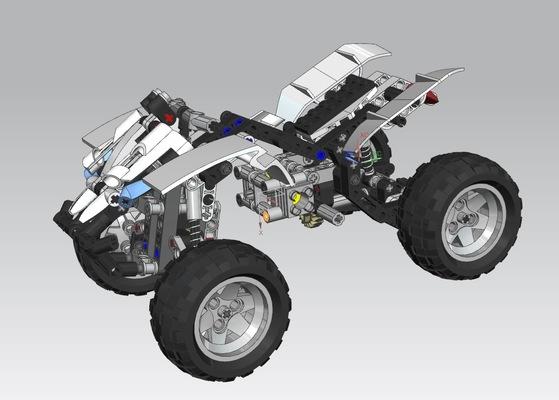 PORTFOLIO - Carl Hansols - Legobil byggd i NX