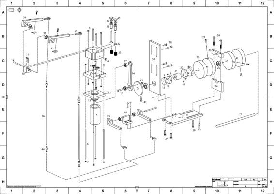 PORTFOLIO - Carl Hansols - Sprängskiss på luftmotor