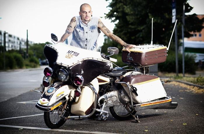 Pressefoto Georg Moritz // Berlin - Harley-BMX-Biker