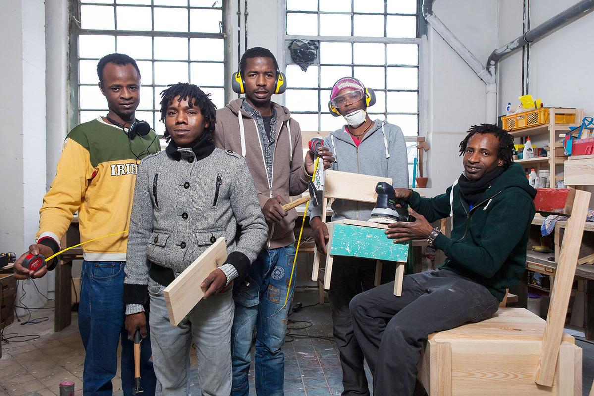 Pressefoto Georg Moritz // Berlin - Flüchtlinge starten Startup