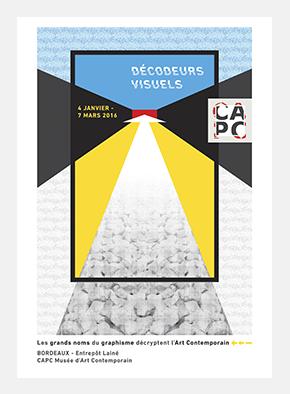 Pierre Besombes - Les Décodeurs Visuels - CAPC > Affiche, Signalétique