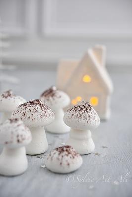Sylvie Aït-ali - Meringues champignons