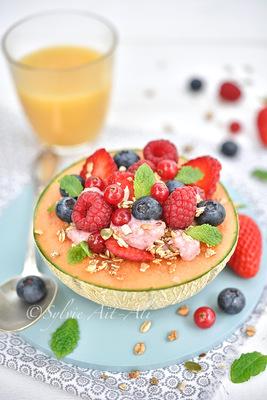Sylvie Aït-ali - Melon bol petit déjeuner