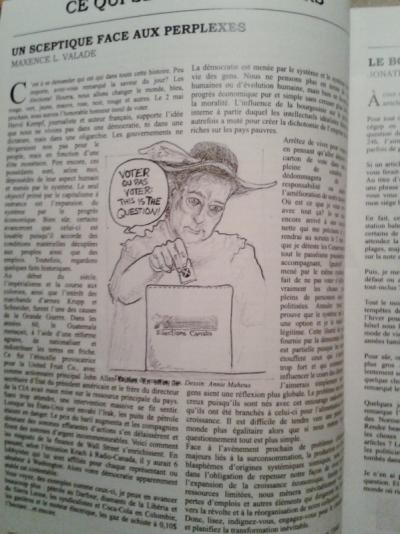 Annie Maheux Works - Publication in Pastiche. Newspaper. April 2012.