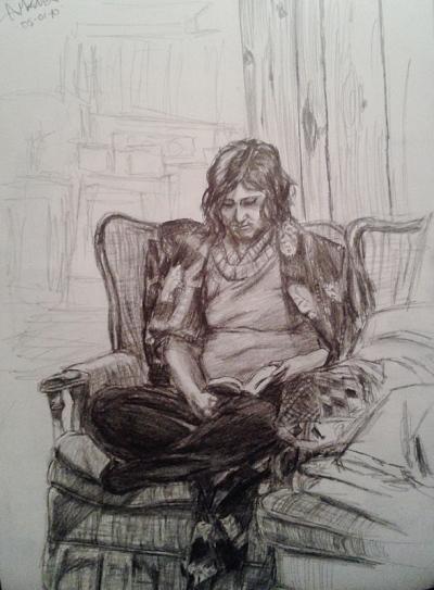 Annie Maheux Works - Sketches Au Chalet part 2. June 2009.