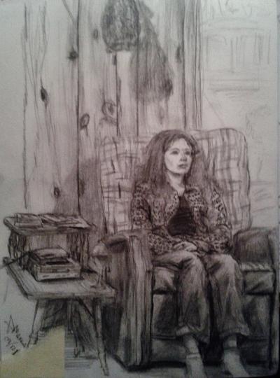 Annie Maheux Works - Sketches Au Chalet part 1. June 2009.
