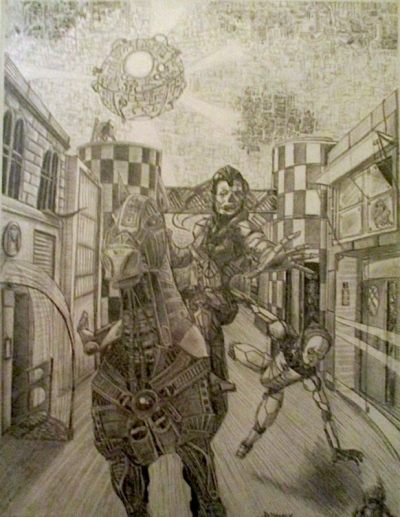 Annie Maheux Works - Cyborg Knight Cover
