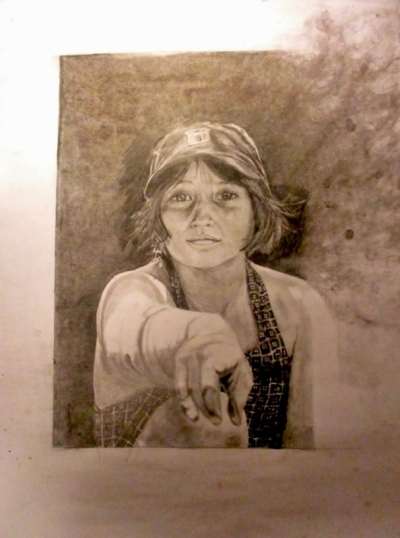 Annie Maheux Works - Sister portrait