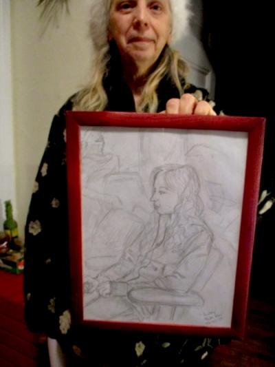 Annie Maheux Works - Airplane Sketch