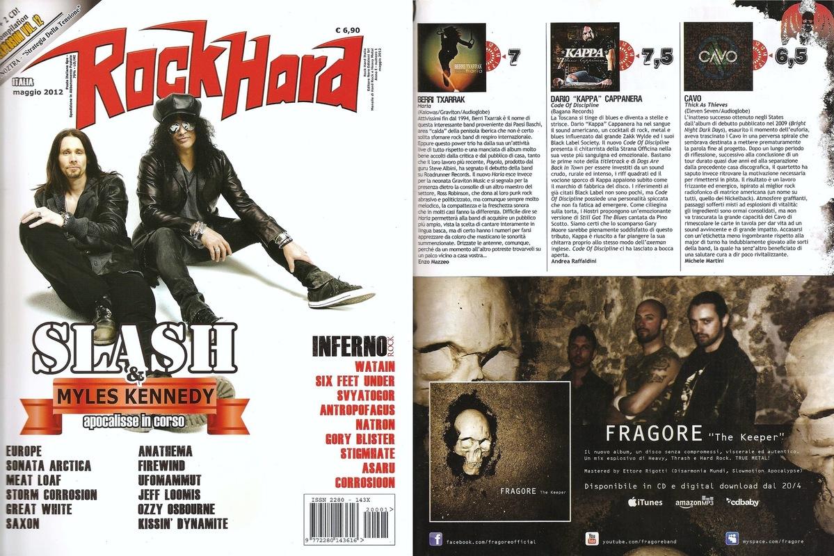 fragore - Rock Hard - May 2012