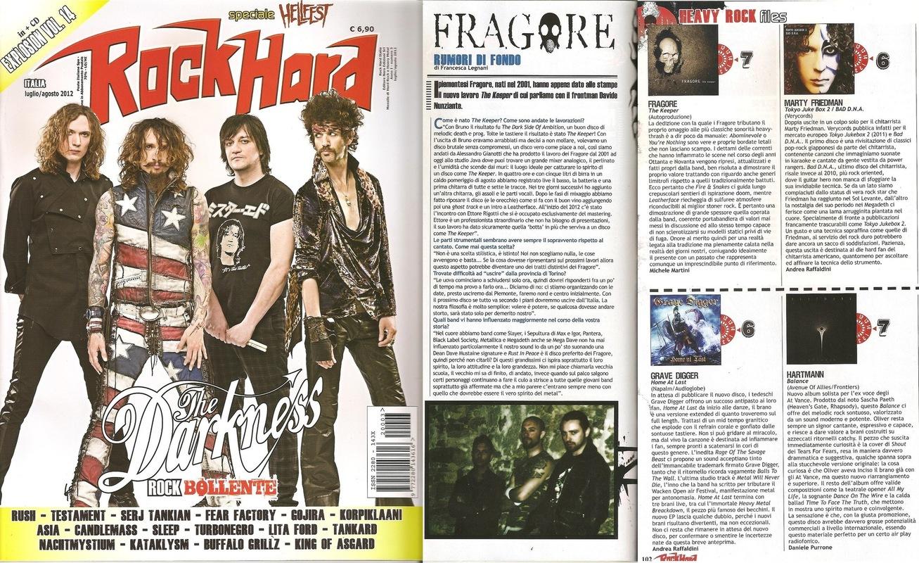 fragore - Rock Hard - June/July 2012