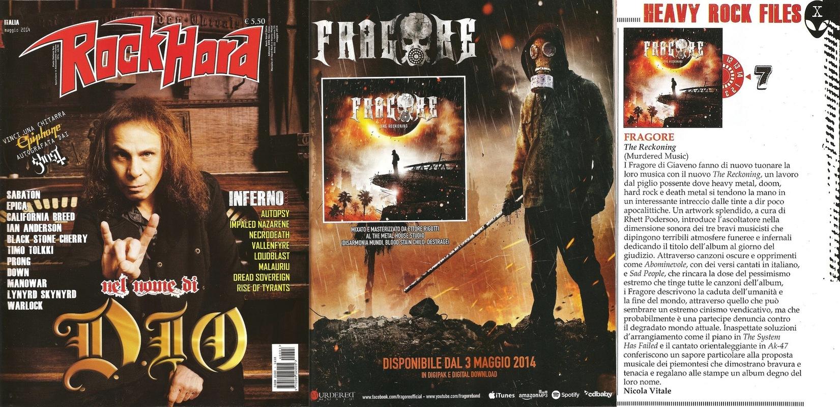 fragore - Rock Hard - May 2014