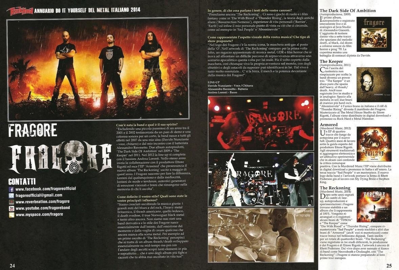 fragore - Annuario del metal italiano, Rock Hard - 2014