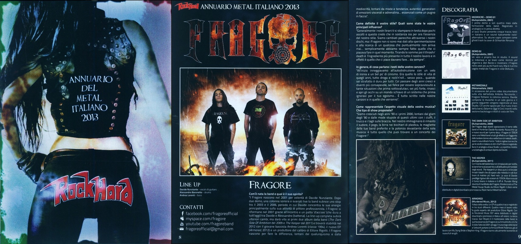 fragore - Annuario del metal italiano, Rock Hard- 2013