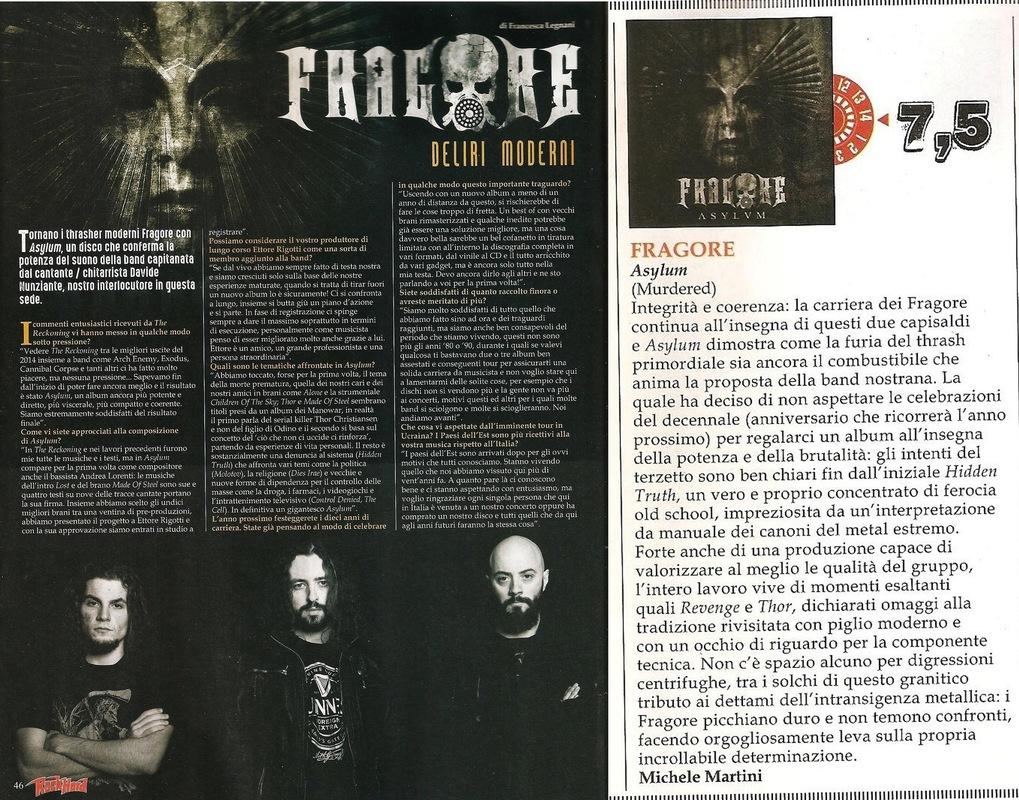 fragore - Rock Hard - May-June 2016