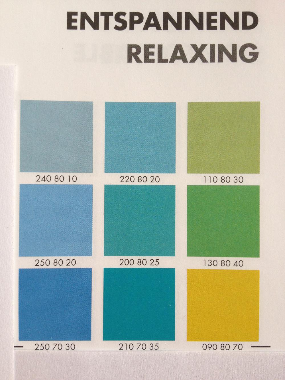 heikeschroeder.com - Das Farbkonzept: Beruhigende, wohltuend wirkende Farben aus der Natur, die den Heilungsprozess fördern können.