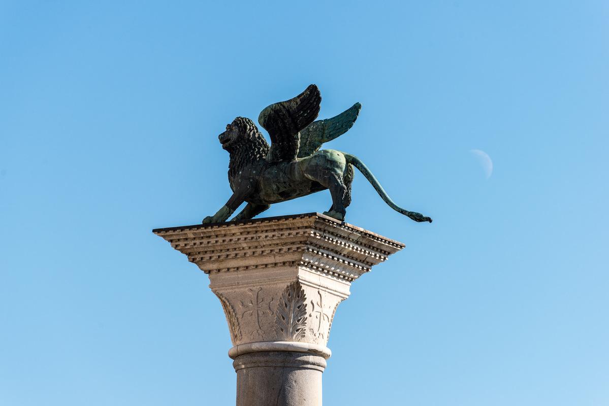 Fabien Delairon photographe - Italie - Venise, Lion de la place St Marc