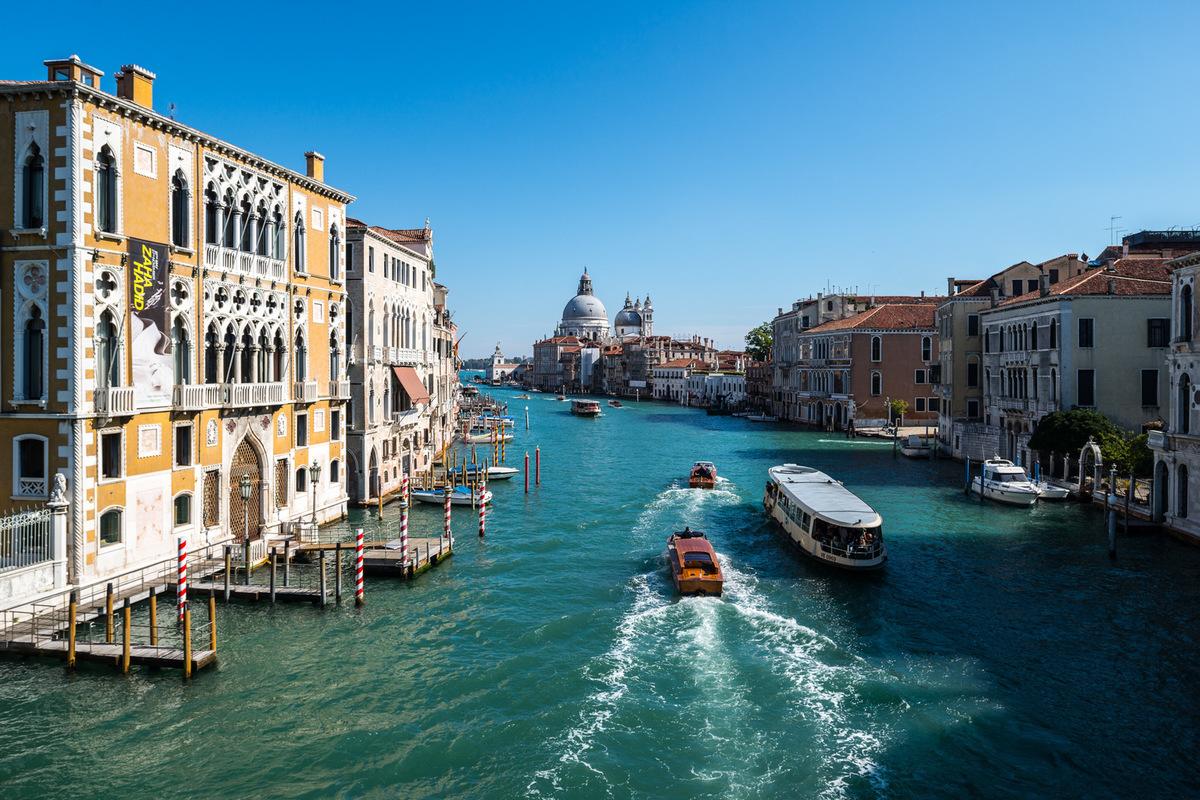 Fabien Delairon photographe - Italie - Venise, le grand canal depuis laccademia