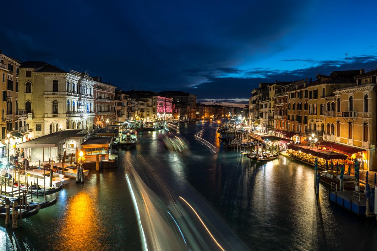 Fabien Delairon photographe - Italie - Venise, grand canal depuis le Rialto