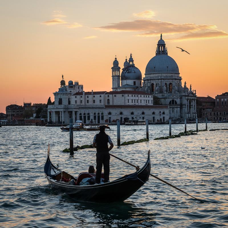 Fabien Delairon photographe - Italie - Venise, gondoles devant la Fondamenta Salute
