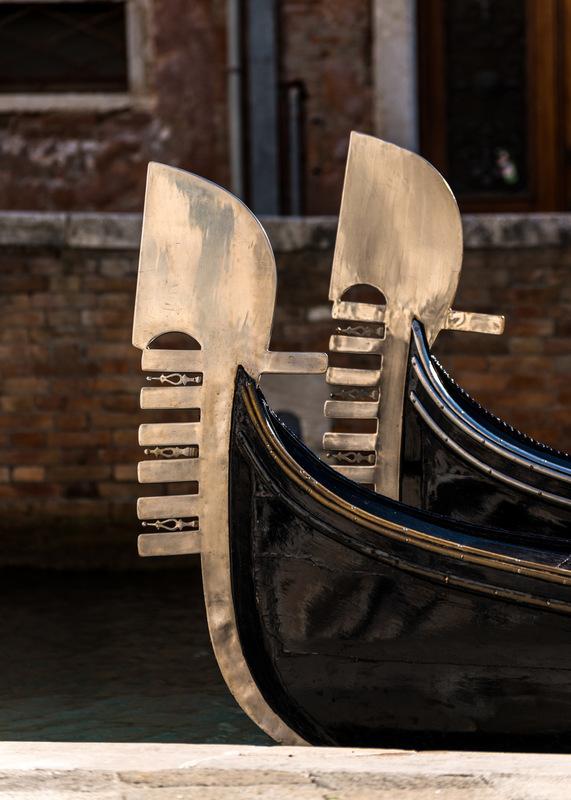 Fabien Delairon photographe - Italie - Venise, Détail de gondoles