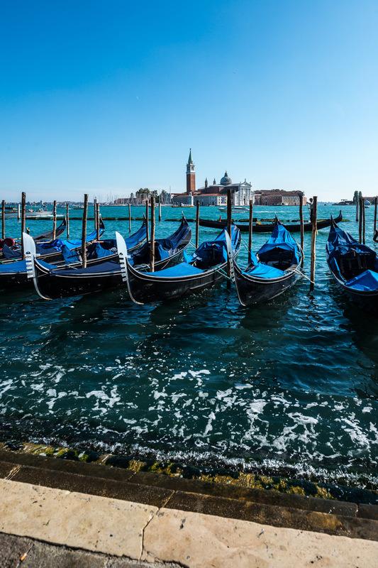 Fabien Delairon photographe - Italie - Venise, gondoles de la place St Marc