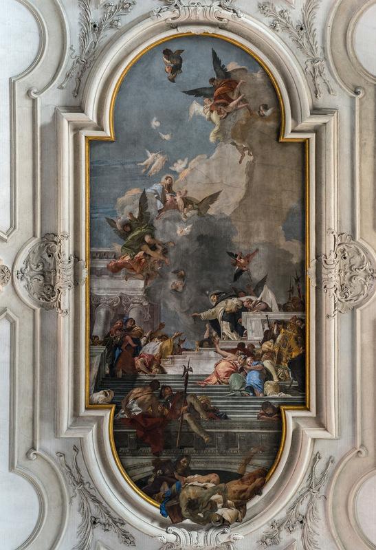 Fabien Delairon photographe - Italie - Venise, Chiesa Santa Maria Del Rosario, peintures de Tiepolo