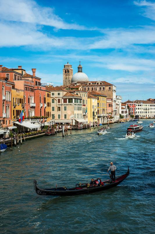Fabien Delairon photographe - Italie - Venise, Grand canal depuis le pont Scalzi