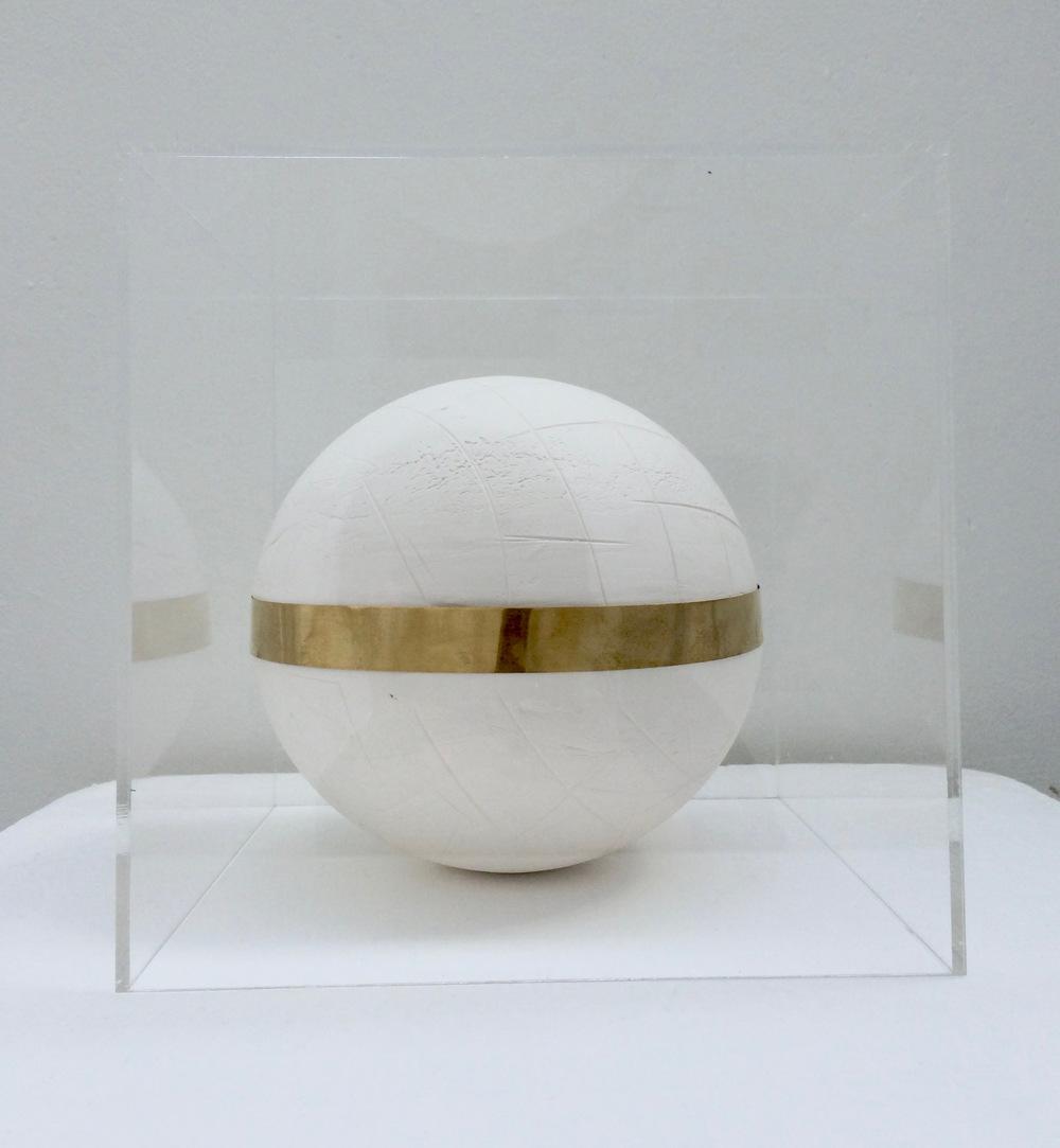 Catalina Renjifo - Present, 2017 Porcelain, brass, perspex